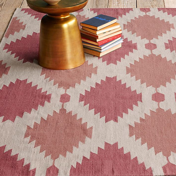Rosy wool dhurrie Get This Look: The Secrets of Eclectic Interior Design