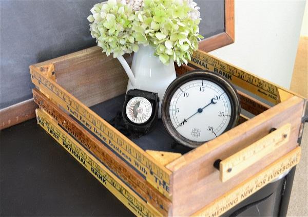 Ruler crate with handles DIY