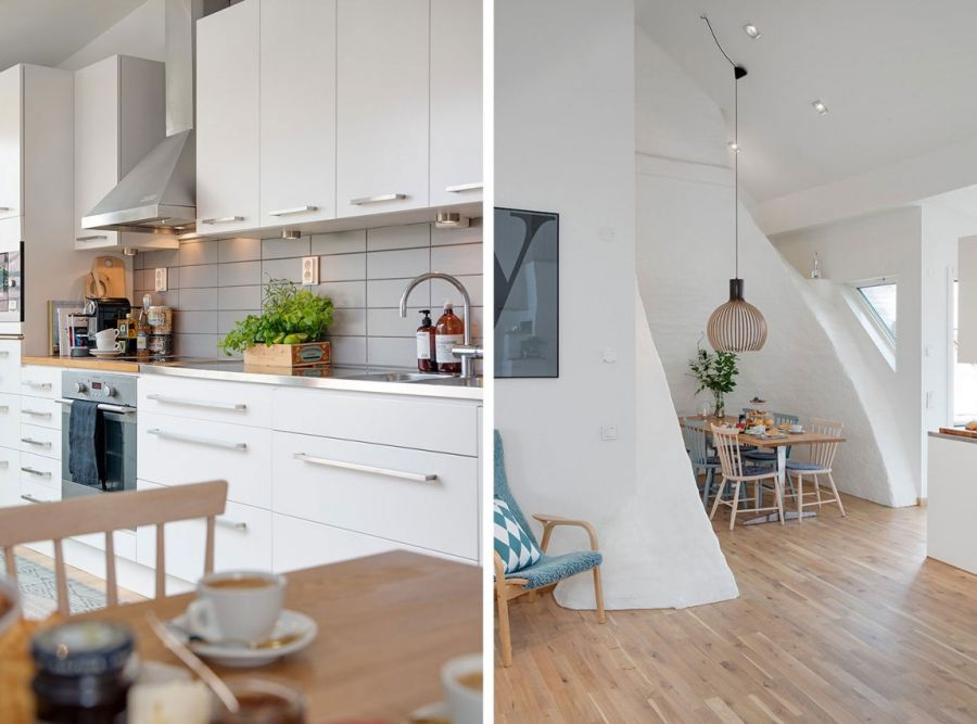 Scandinavian interiors of the Rosengatan apartment