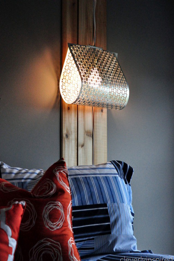 Scrap metal hanging lamp