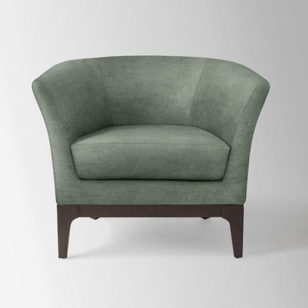 Silvery sage green chair