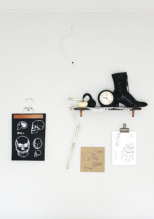 Skeleton wall hangings