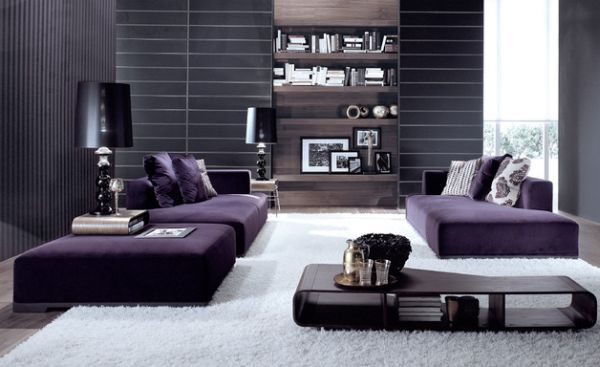 Sleek contemporary living room with semi-minimalism