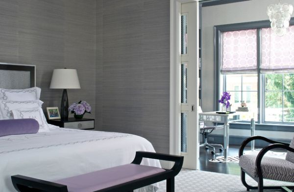 Smart combination of grey and lavender