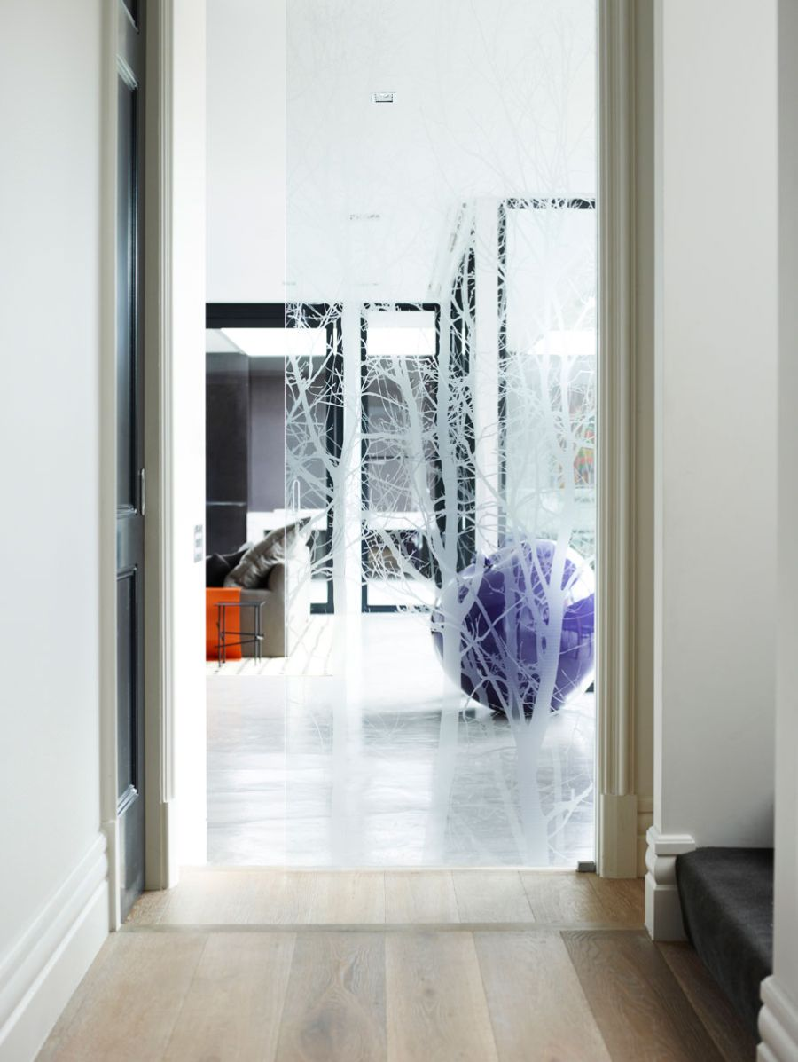 Smart glass addition for an open living area