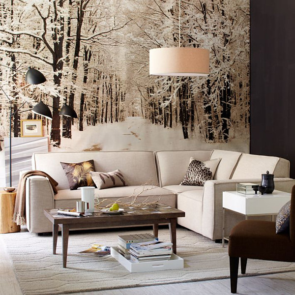Snowy wallpaper mural