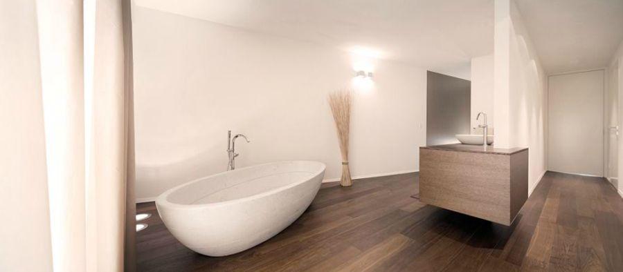 Spa-like modern bathroom at home