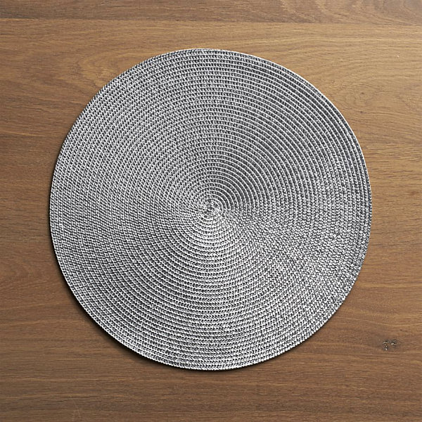 Sparkly silver placemat