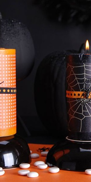 Spider candles light up your home's interior