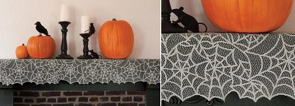 Spider web mantel trim