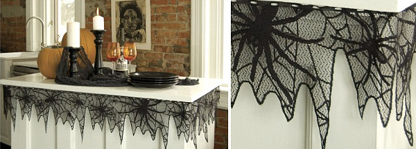 view in gallery spider web table trim - Halloween Spider Web Decorations