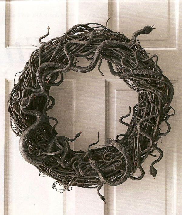 Spooky Halloween Snake Wreath DIY