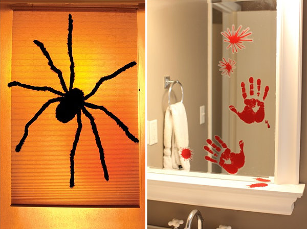 view in gallery spooky door and window decorations - Halloween Window Decor