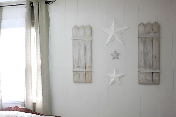 Stars and shutters wall art