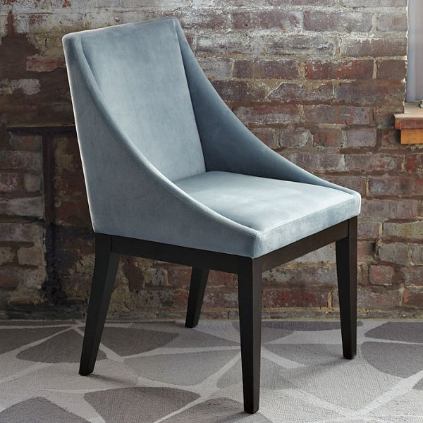 Charmant View In Gallery Steel Blue Upholstered Chair