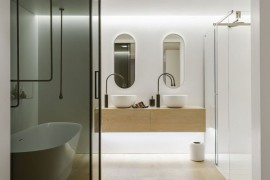 Ingenious Contemporary Bathroom By Minosa Design: Refreshingly Radiant!
