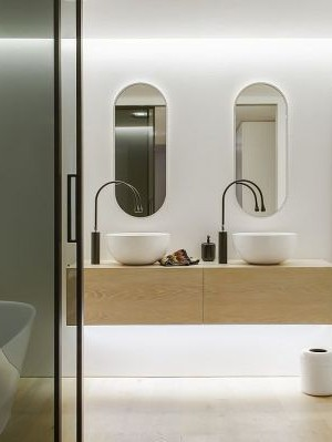 Stylish Contemporary Bathroom by Minosa Design, Sydney
