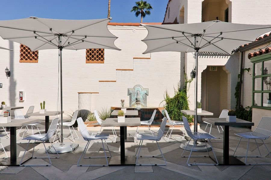 Stylish outdoor dining area