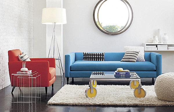 Textured textiles in a modern living room