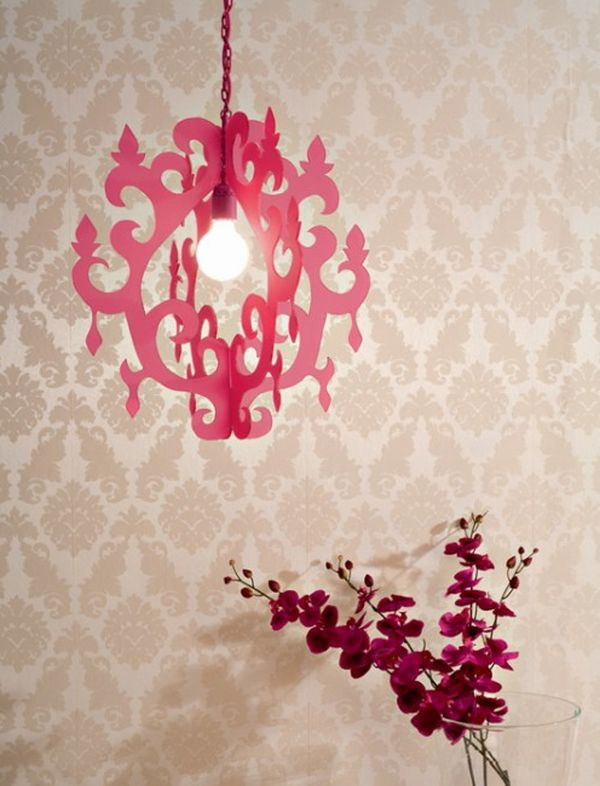 Trendy honeysuckle pendant lamp DIY