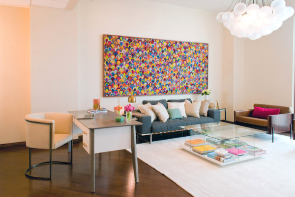 Vibrant accents in a modern interior