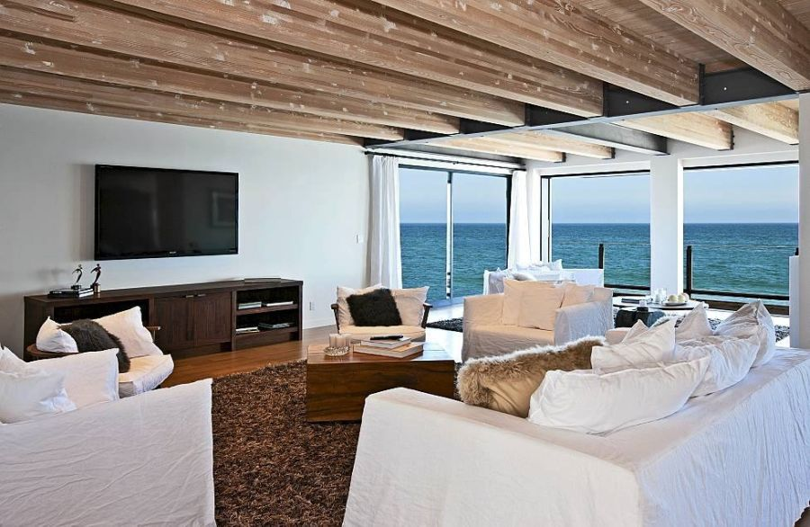View in gallery view of the ocean from matthew perrys malibu beach house