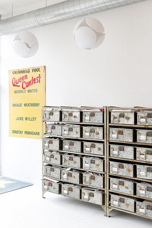 Vintage organization bins