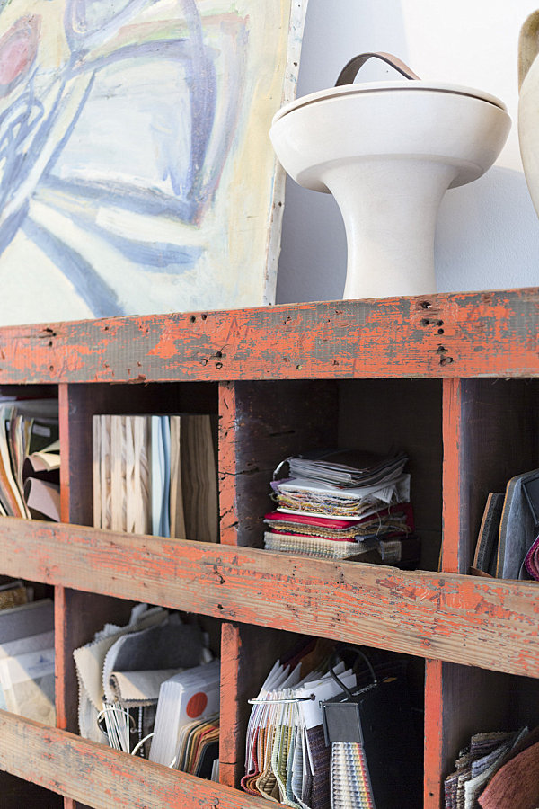 Vintage shelving help organize in style