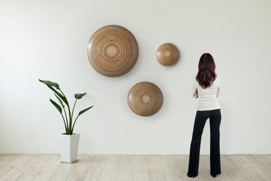 Wall Buttons crafted from birch