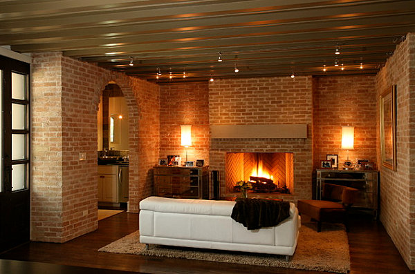 Warm glow of lighting in a modern living room