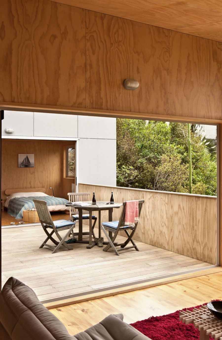 Warm wooden surfaces inside the New Zealand home