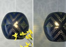 West Elm Inspired Perforated Globe Pendant