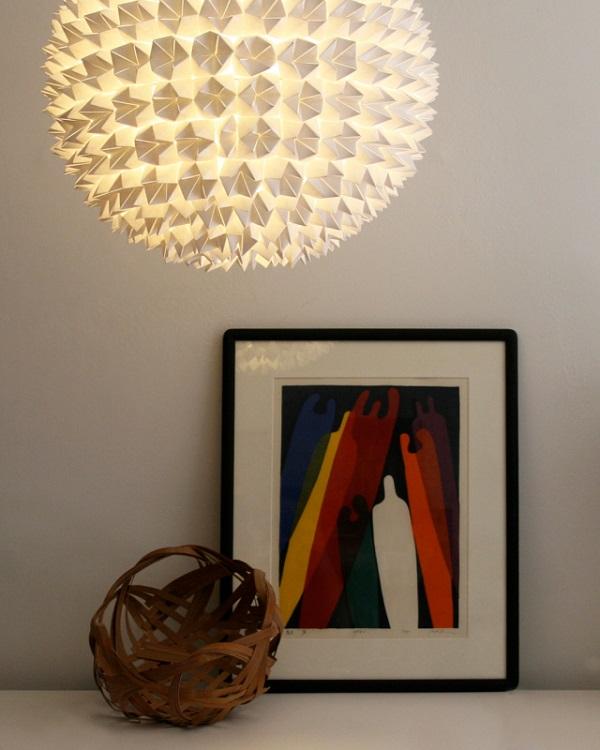 White fortune teller hanging lamp