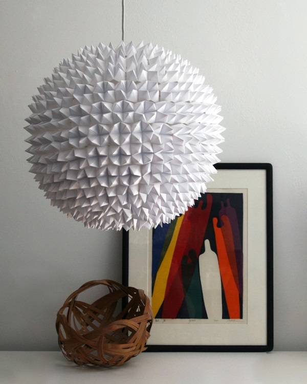 White fortune teller pendant lamp