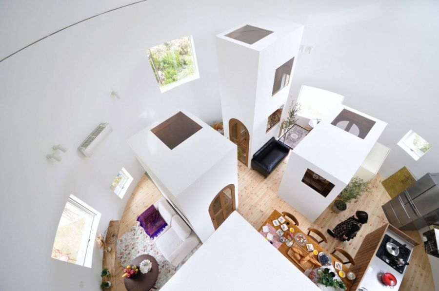 White interior of Chiharada Home