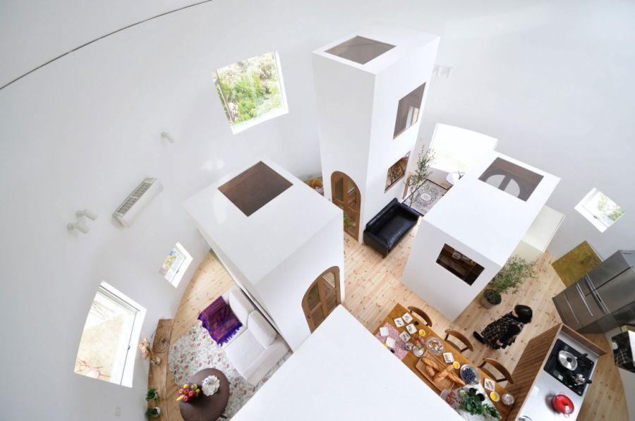 White interior of Chiharada Home