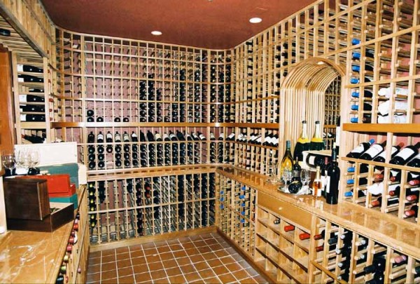 Wine cellar in Los Altos Country Club in California