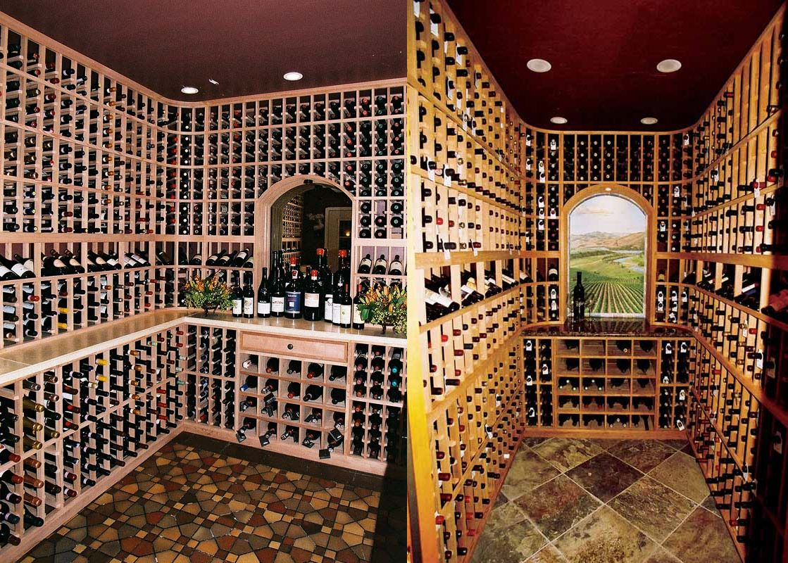 Wine cellars in san francisco and greenbrae california Cellar designs