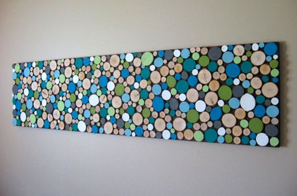 Wood slice wall art DIY