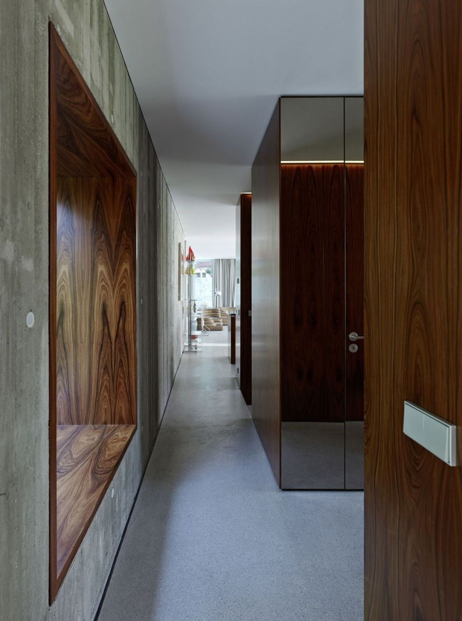 Wooden cabins offer private areas