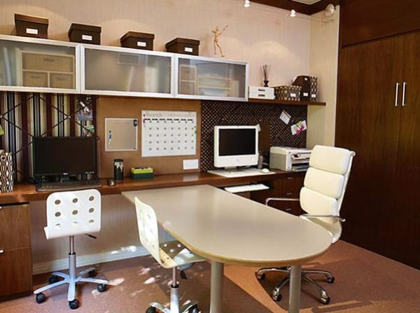 home office planning. View In Gallery Workstations Design Combined With A Shared Planning Board Home Office S