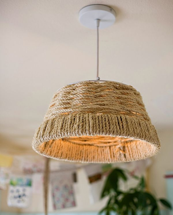 diy lighting ideas. View In Gallery Woven DIY Rope Pendant Diy Lighting Ideas