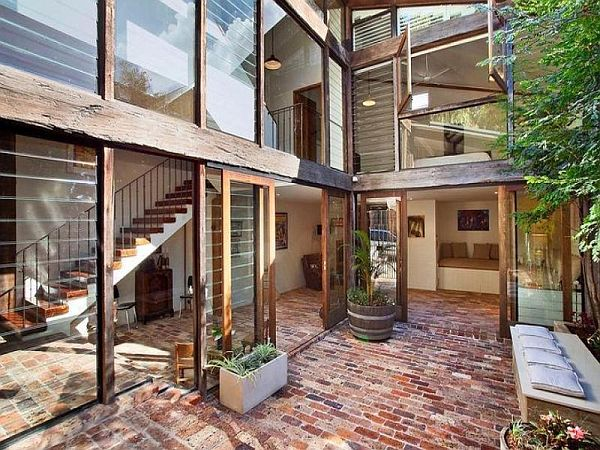 brick flooring The Nudist Home: 3 Ways of Exposing True Architectural Beauty