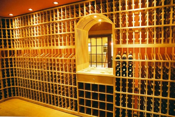 brilliant wine cellar in Penngrove California 600x400 Artistic Wine Cellars: Opulent and Over the Top Custom Design by Patrick Wallen [Interview]