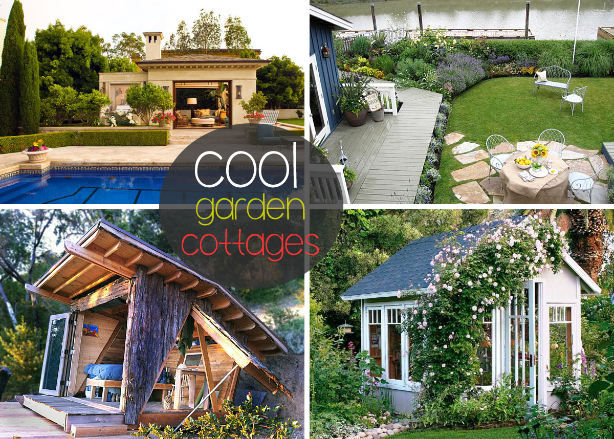 cool garden cottages Garden Cottages and Small Sheds for Your Outdoor Space