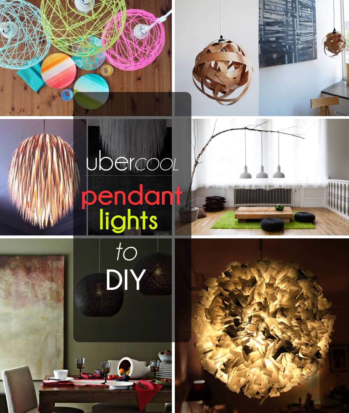 50 coolest diy pendant lights aloadofball Image collections