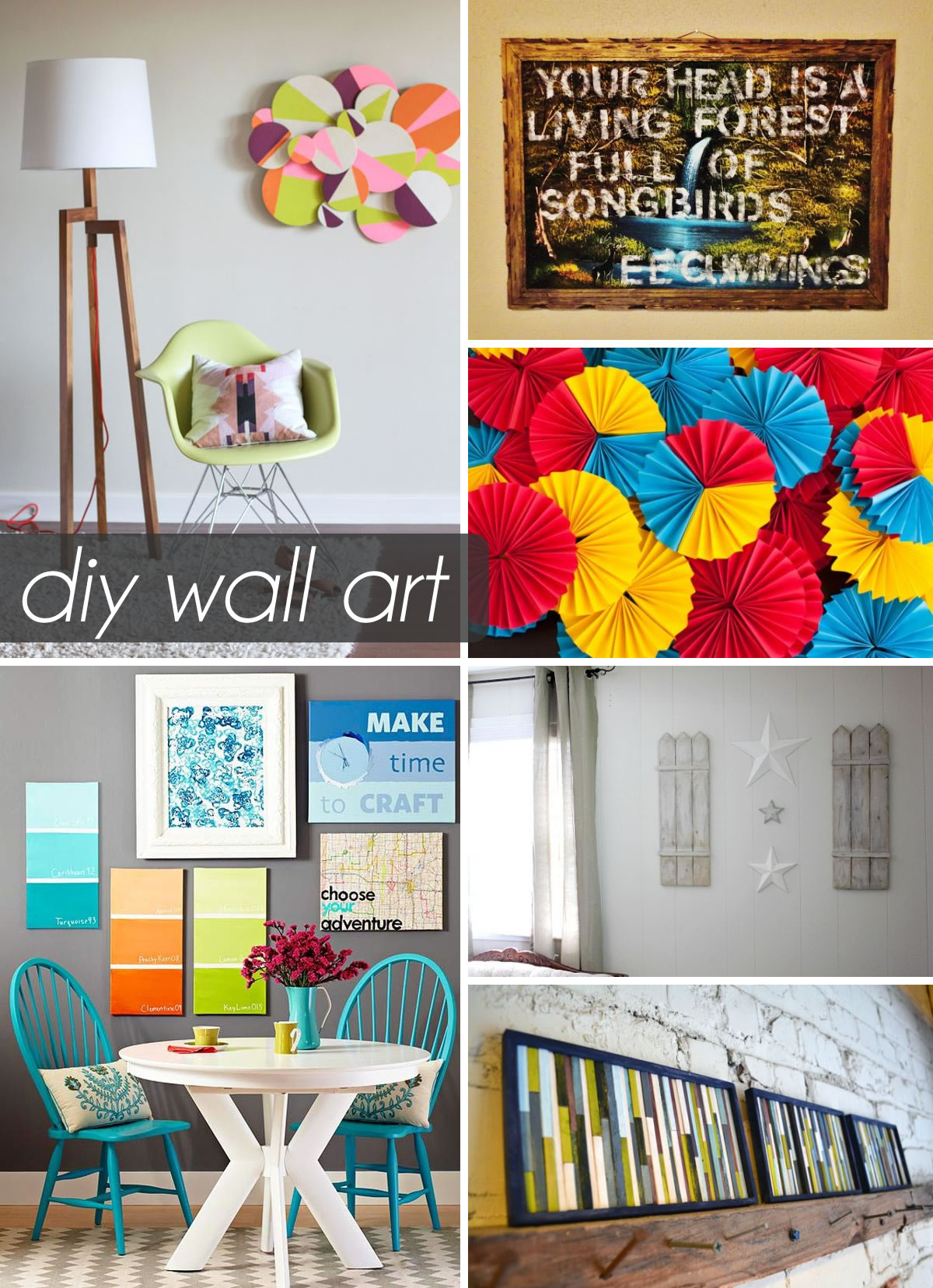 superior Home Wall Decor Ideas Part - 17: 50 Beautiful DIY Wall Art Ideas For Your Home