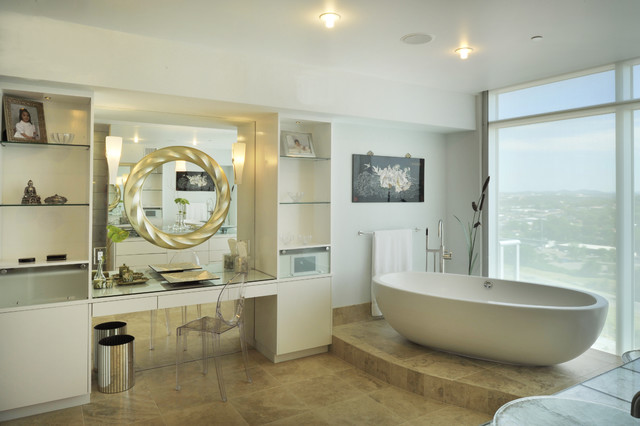 enlarge space with mirror