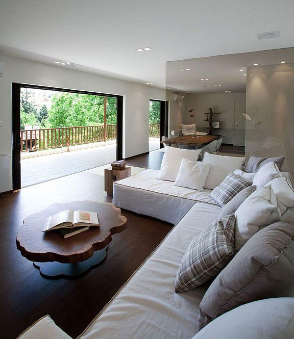 Stylish Glass Screens And Sleek Design Shape Smart Greek Apartment