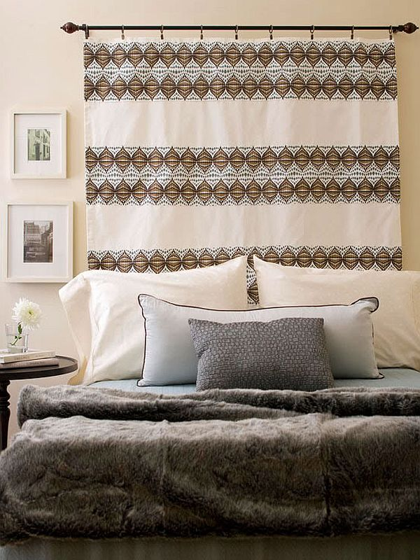 headboard curtain